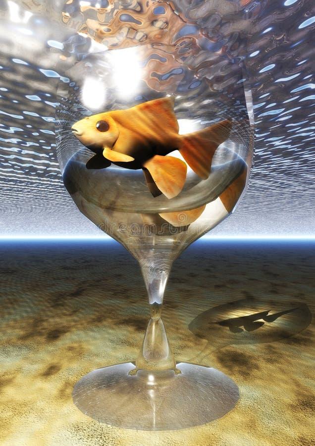 Vetro del pesce rosso royalty illustrazione gratis