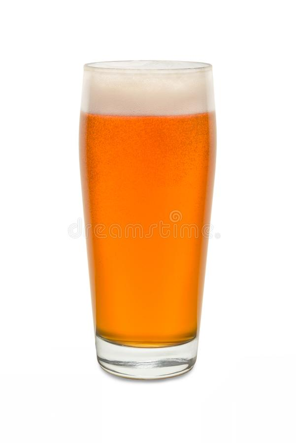 Vetro del pub del mestiere con birra 2 fotografia stock