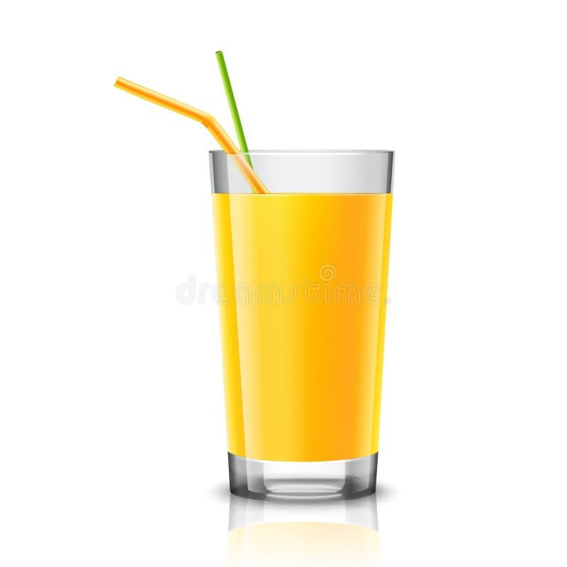 Vetro del succo d'arancia illustrazione vettoriale