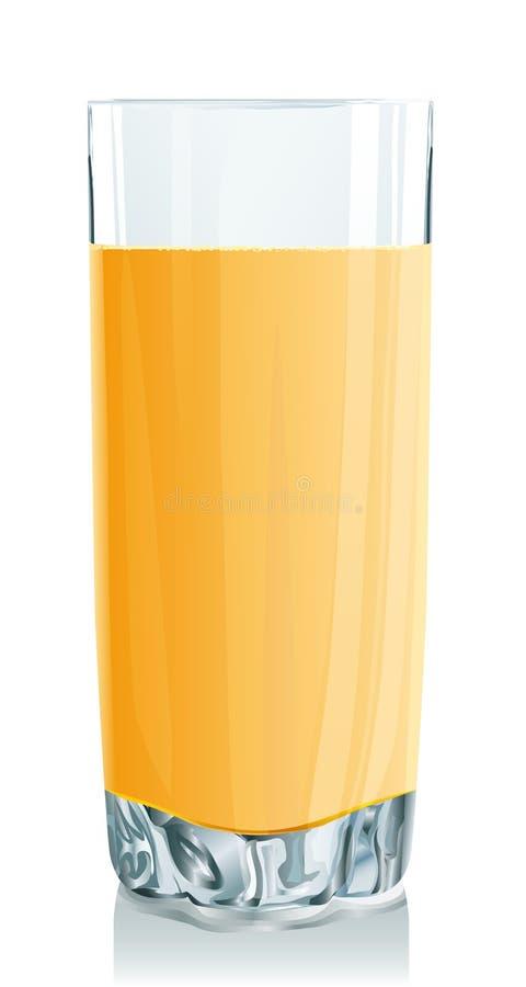 Vetro del succo di arancia illustrazione vettoriale