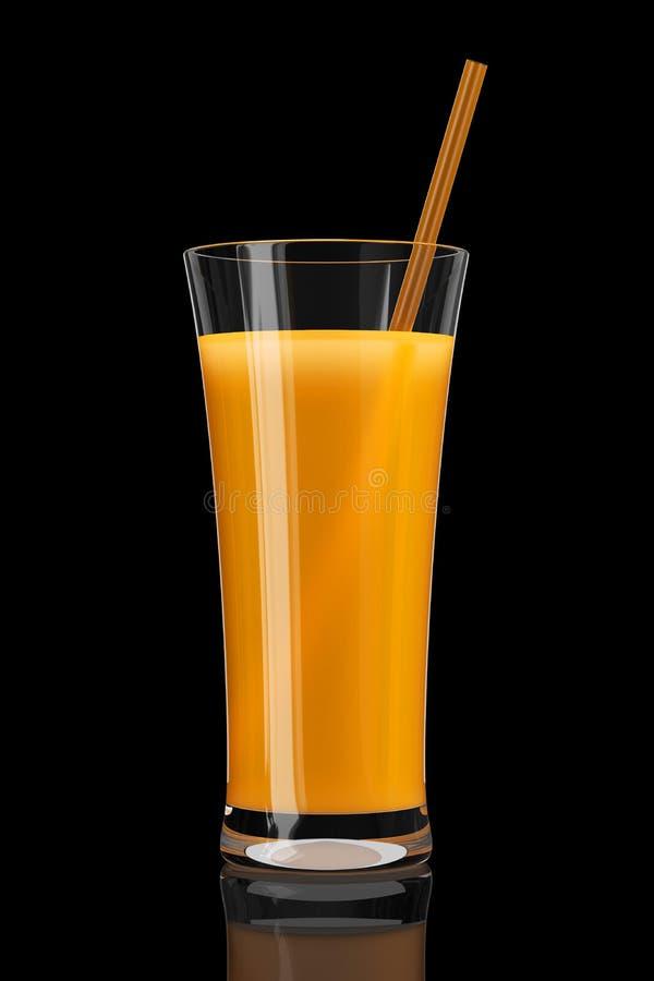 Vetro del succo di arancia royalty illustrazione gratis