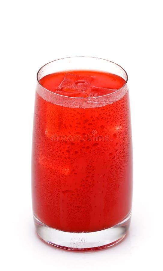 Vetro del succo di arancia rosso immagine stock libera da diritti