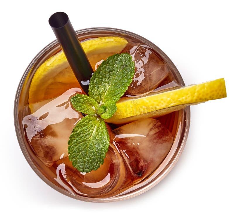 Vetro del tè di ghiaccio immagine stock libera da diritti