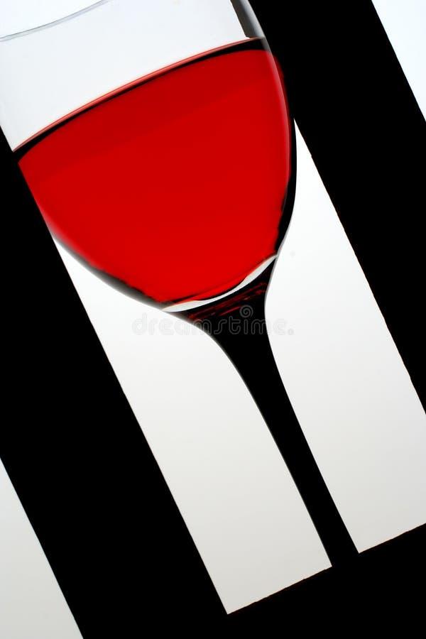 Vetro del telaio della Rosa Wine.in fotografia stock