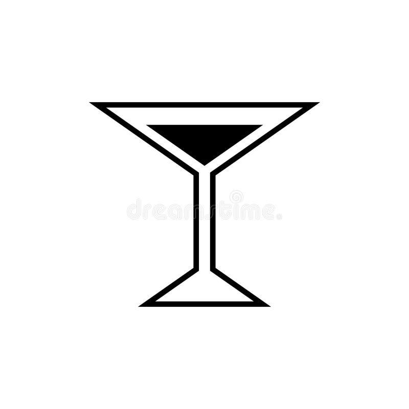 Vetro dell'icona di martini illustrazione di stock