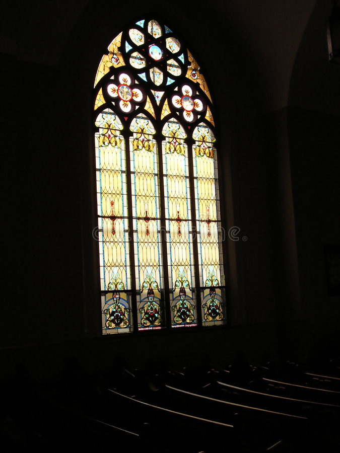 Vetro della chiesa fotografie stock libere da diritti
