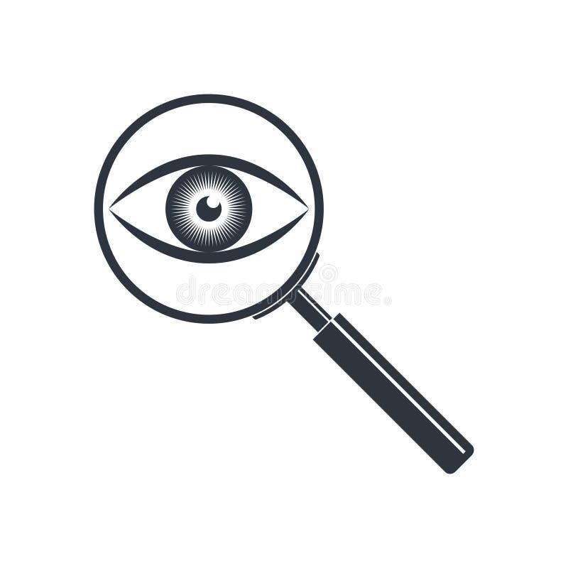 Vetro della lente ed icona grafica dell'occhio royalty illustrazione gratis