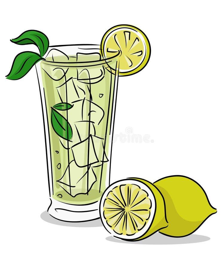 Vetro della limonata immagini stock