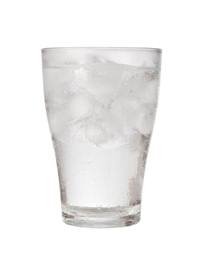 Vetro di acqua ghiacciata immagine stock libera da diritti