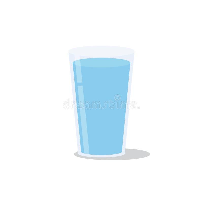 Vetro di acqua Icona isolata Illustrazione illustrazione di stock