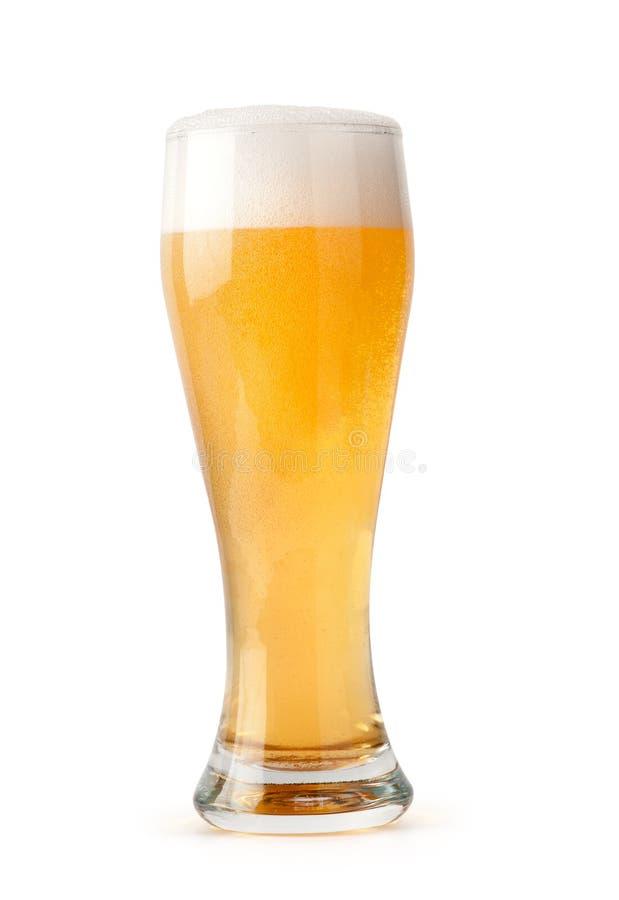 Vetro di birra chiara fotografia stock