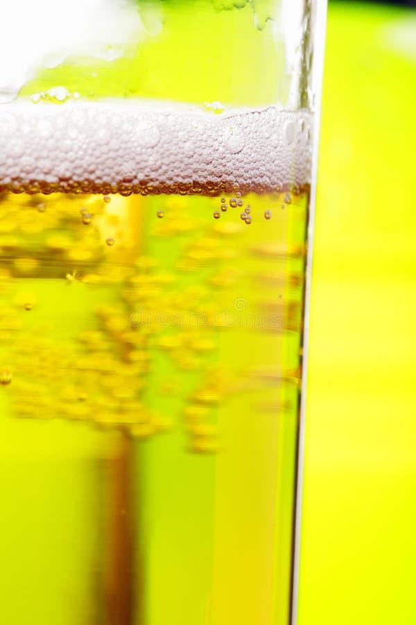 Vetro di birra contro verde immagine stock libera da diritti