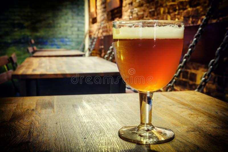 Vetro di birra fresca fotografia stock