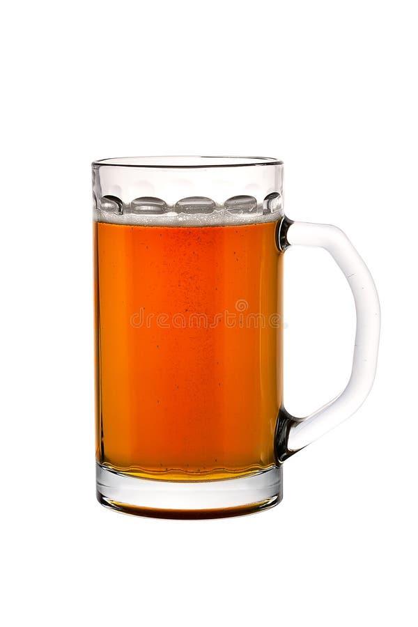 Vetro di birra isolato fotografia stock libera da diritti