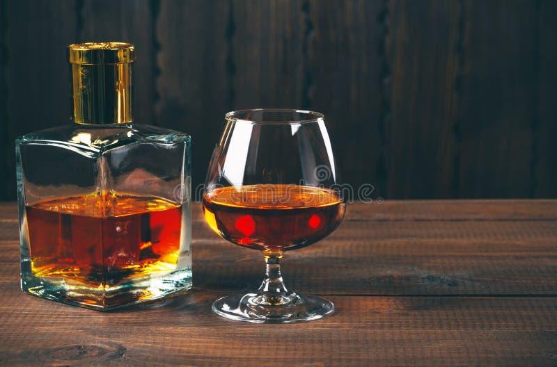 Vetro di brandy o del cognac fotografie stock