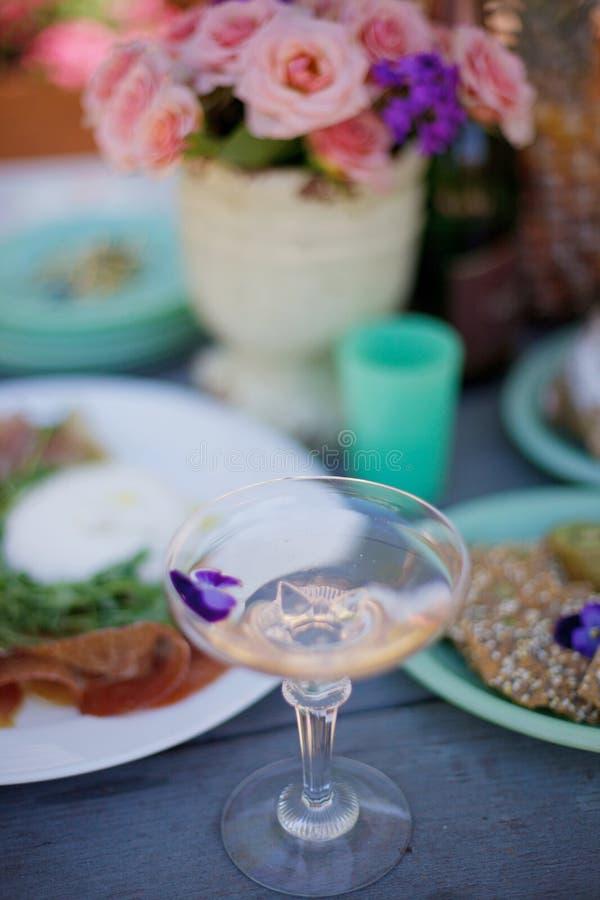Vetro di Champagne fotografia stock libera da diritti