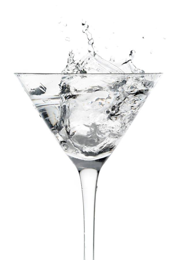 Vetro di cocktail con movimento della spruzzata fotografie stock libere da diritti