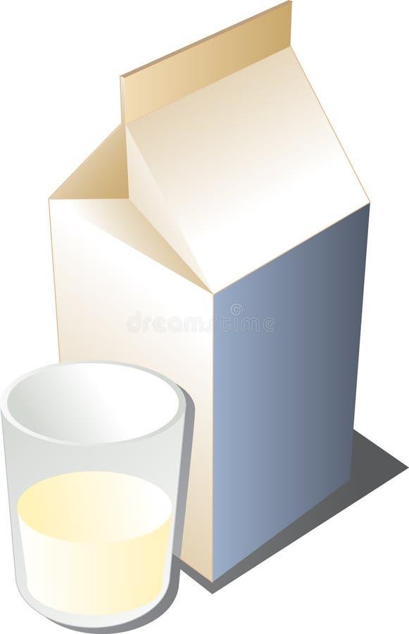 Vetro di latte royalty illustrazione gratis