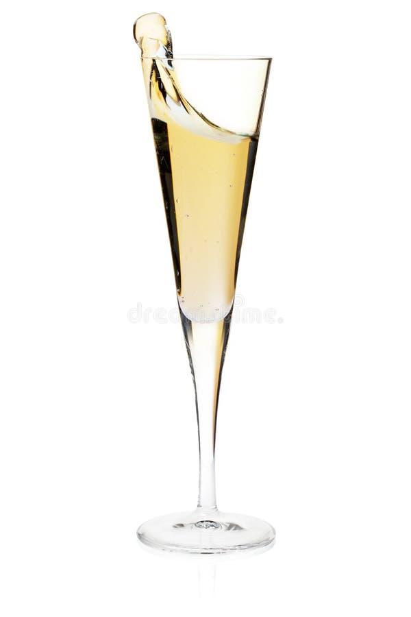 Vetro di scanalatura di Champagne immagine stock