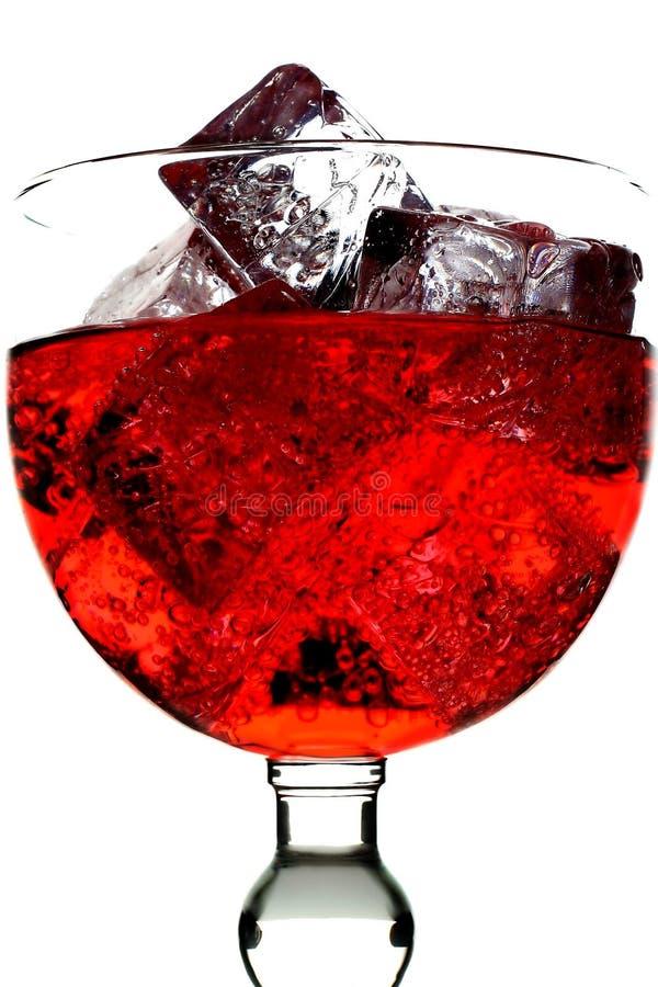 Vetro di soda rossa immagine stock libera da diritti