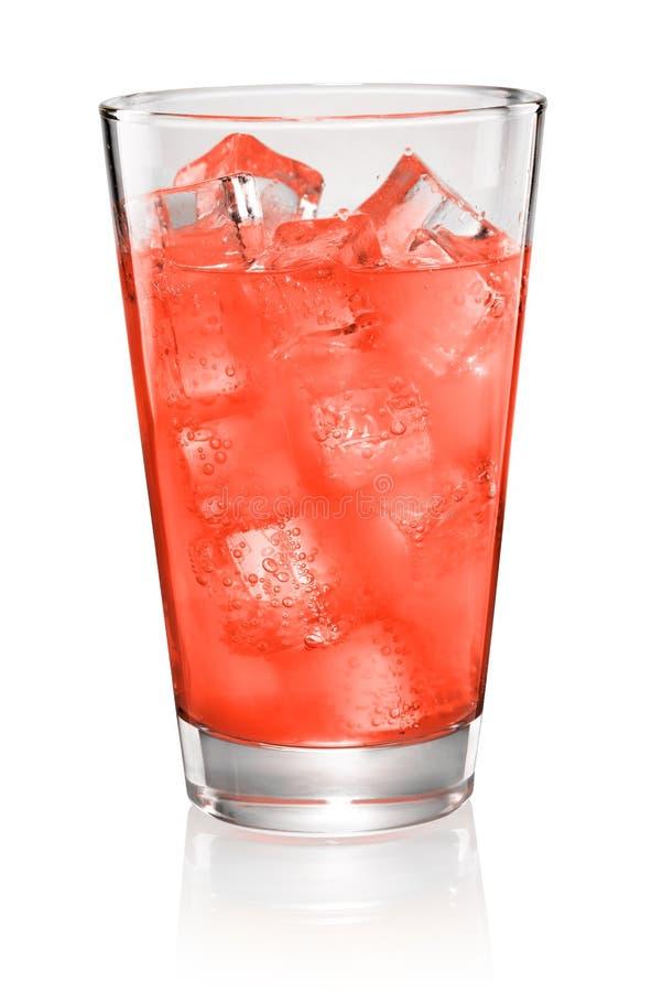 Vetro di soda rossa isolato immagini stock libere da diritti