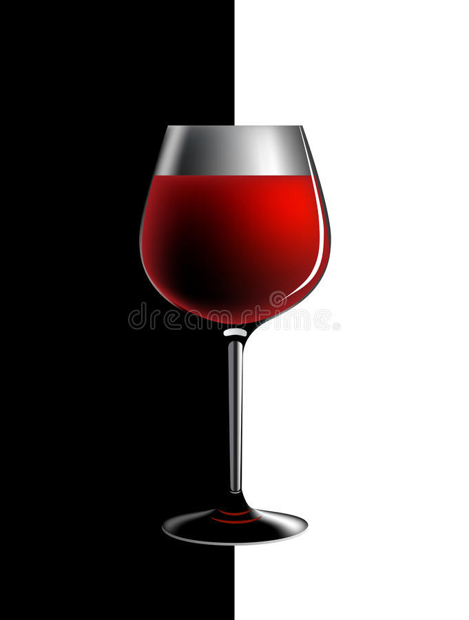 Vetro di vino royalty illustrazione gratis