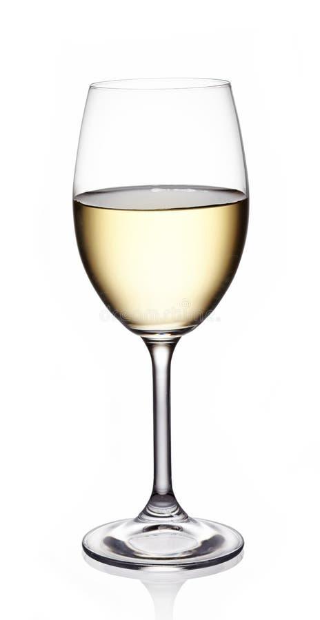 Vetro di vino bianco fotografia stock