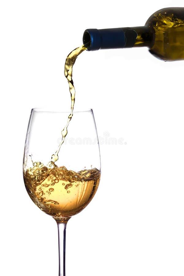 Vetro di vino bianco fotografia stock libera da diritti