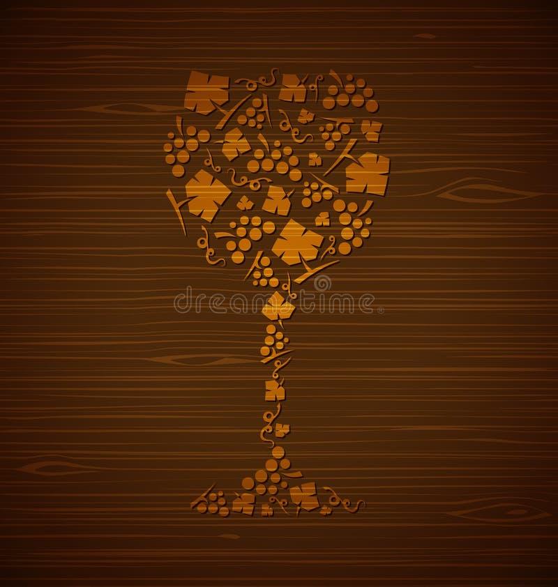 Vetro di vino decorativo di vettore illustrazione vettoriale