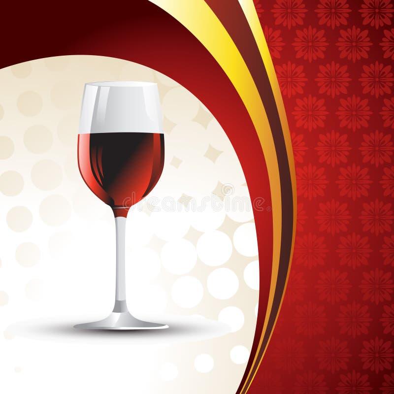 Vetro di vino di vettore illustrazione di stock