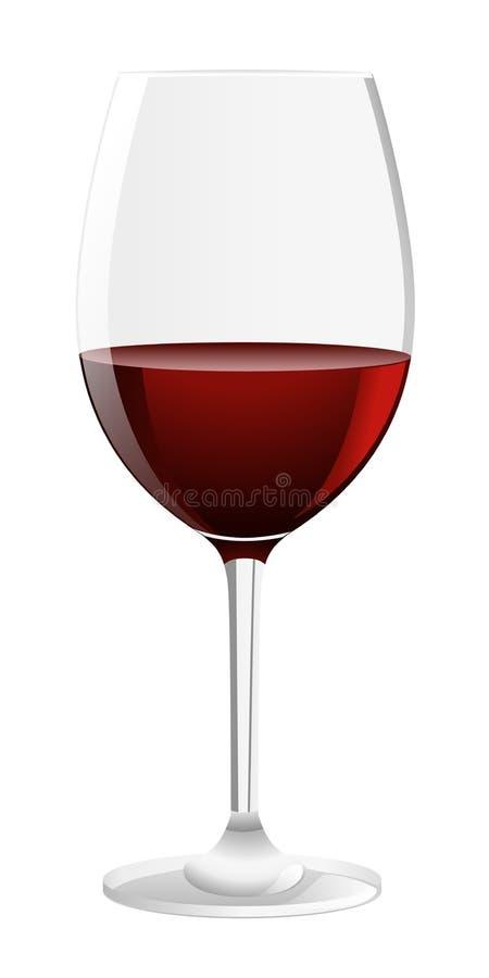 Vetro di vino rosso illustrazione di stock