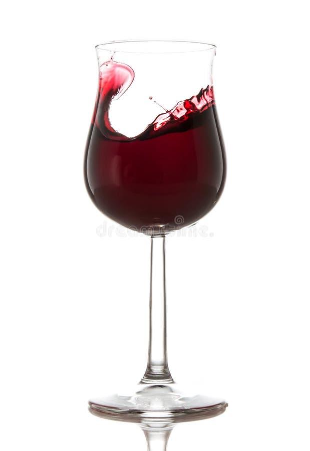Vetro di vino rosso immagini stock