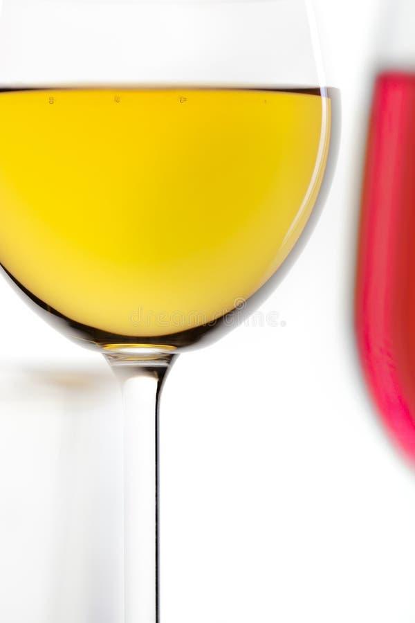 Vetro di vino rosso e di vino bianco immagini stock
