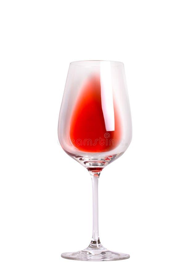 Vetro di vino rosso Vetro di vino isolato su fondo bianco fotografie stock