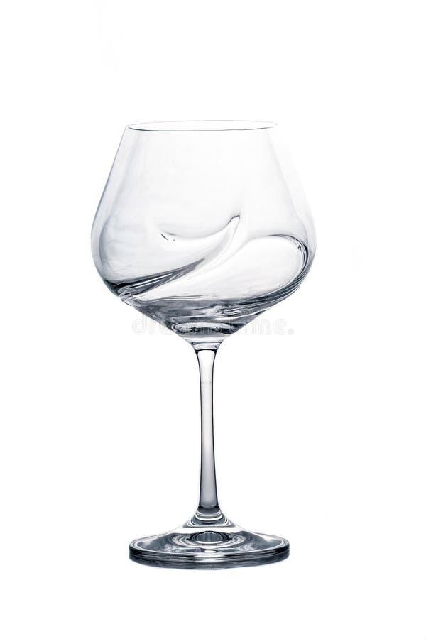 Vetro di vino vuoto immagine stock libera da diritti