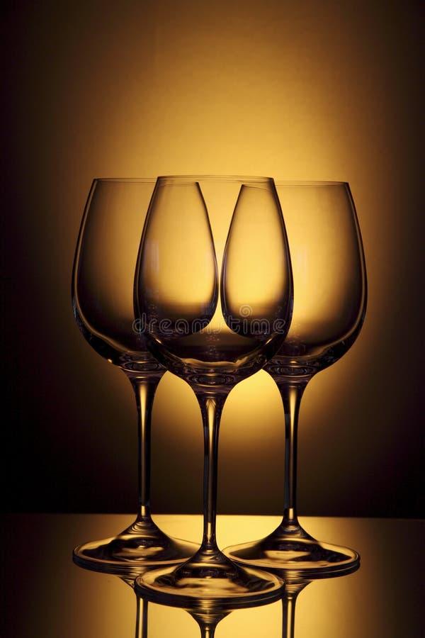 Vetro di vino vuoto immagine stock