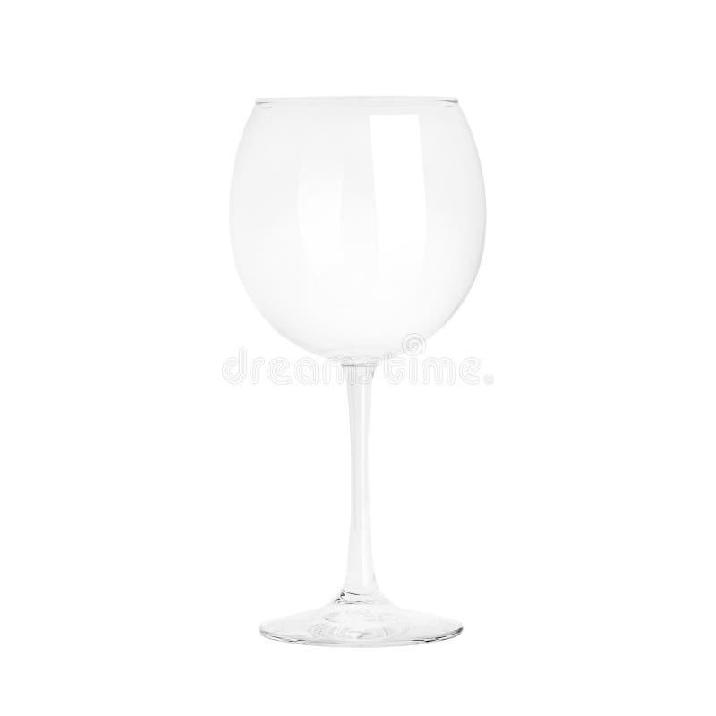 Vetro di vino vuoto fotografie stock