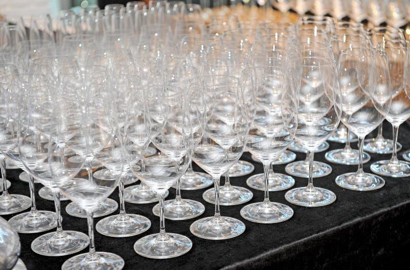 Vetro di vino vuoto del primo piano fotografia stock libera da diritti