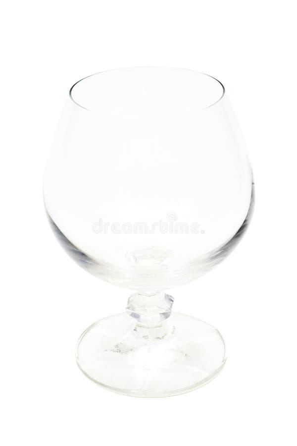 Vetro di vino vuoto (isolato) fotografia stock libera da diritti