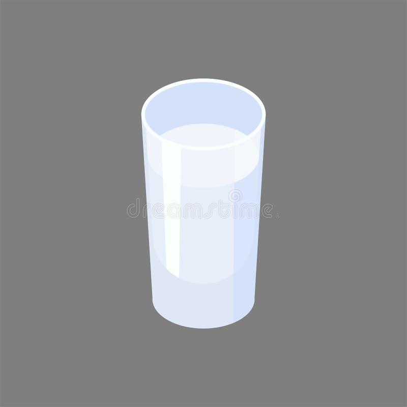 Vetro di vodka isolato Illustrazione di vettore dell'alcool royalty illustrazione gratis