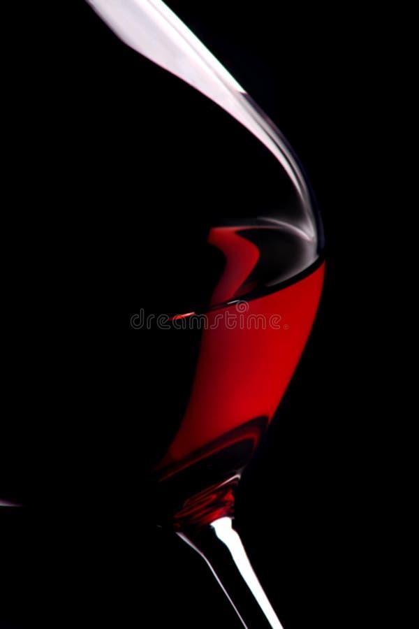 Vetro E Vino Fotografia Stock