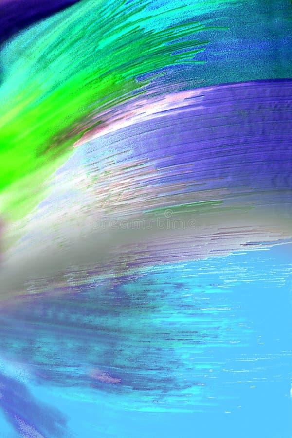 Vetro fatto a mano brillantemente colorato dell'estratto fotografia stock
