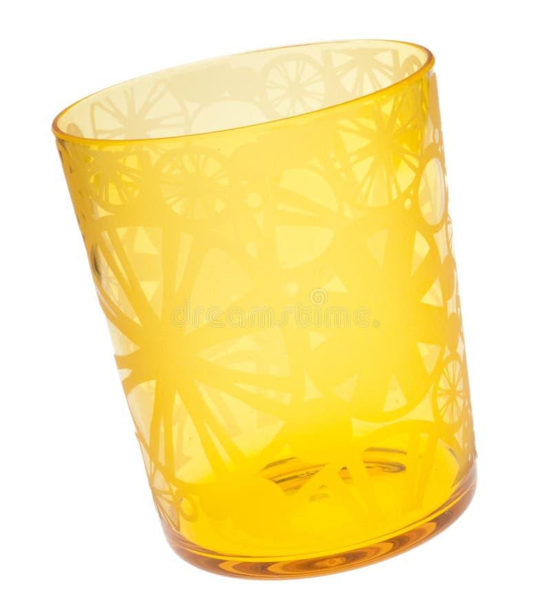 Vetro giallo vibrante fotografie stock
