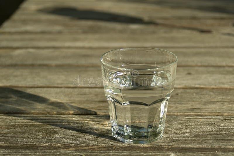 Vetro libero freddo di acqua immagine stock