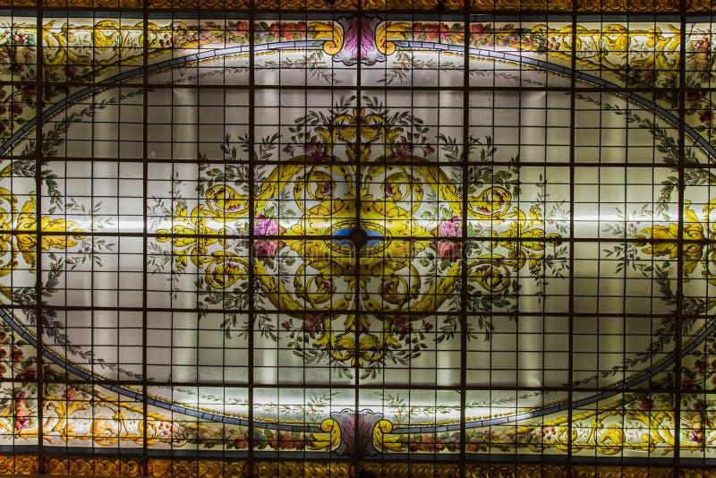 Vetro macchiato Buenos Aires fotografie stock libere da diritti