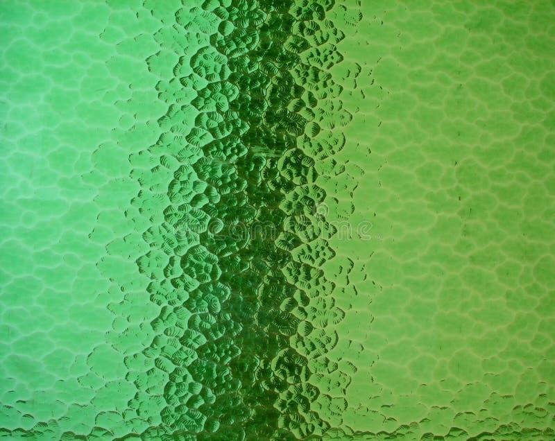 Vetro macchiato di verde fotografia stock