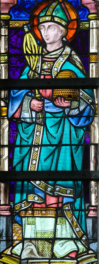 Vetro macchiato - St Ambrose fotografia stock