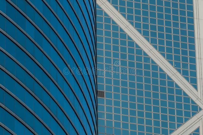 Vetro moderno ed architettura d'acciaio in centrale del centro, Hong Kong Island fotografia stock libera da diritti