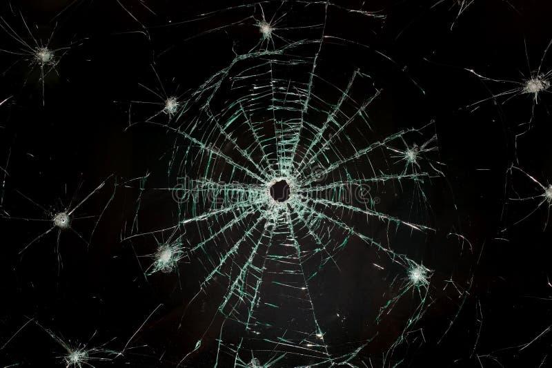 Vetro rotto dell'automobile del tergicristallo immagini stock libere da diritti