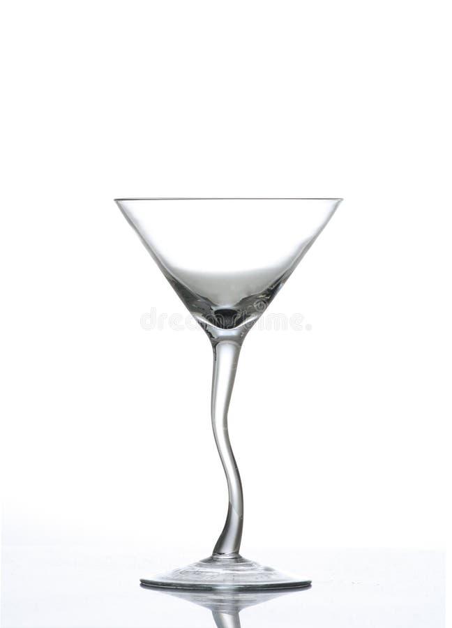 Vetro torto del Martini del gambo fotografia stock libera da diritti